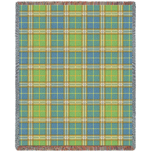 Freshwater Plaid Art Tapestry Throw