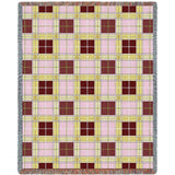 Alternating Blocks Plaid Woven Throw