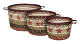 Barn Star Braided Jute Storage Basket in 3 Sizes 38-UBP-019BS
