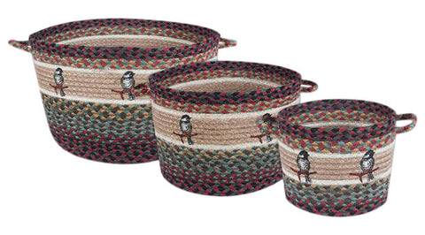 Chickadee Braided Jute Storage Basket in 3 Sizes 38-UBP-081C