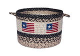 Americana Original Flag Braided Jute Storage Basket in 3 Sizes 38-UBP-91032OF