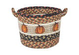 Harvest Pumpkin Braided Jute Storage Basket in 3 Sizes 38-UBP-222HP