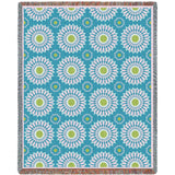 Blooms Whimsy Art Tapestry Throw, Blue