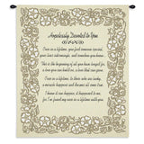Hopelessly Devoted To You Gold Anniversary Art Tapestry Wall Hanging