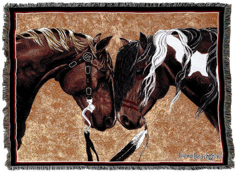 Warriors Truce II Art Tapestry Throw