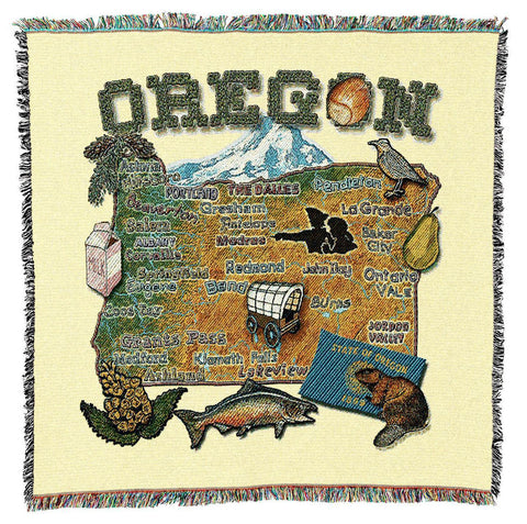Oregon State Art Tapestry Lap Throw