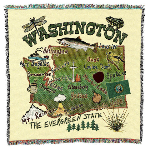 Washington State Art Tapestry Lap Throw