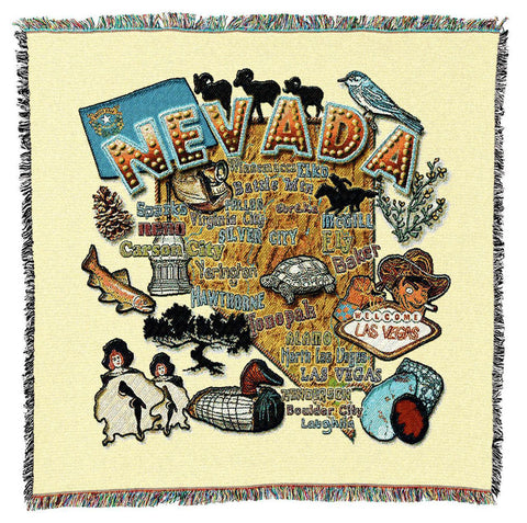 Nevada State Art Tapestry Lap Throw