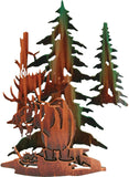 3D Wilderness Moose Haven Metal Wall Art