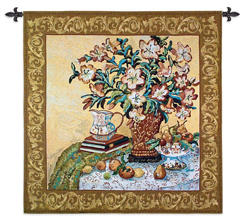 Asian Lilies Art Tapestry Wall Hanging