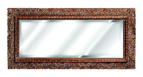 Ornate Floral Carved Design Wall Mirror Antique Reproduction in 60 Colors