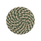 "4"" Round Braided Cotton Blend  Set of 4 Coasters 42-009"