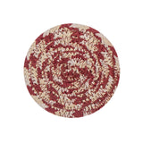 "4"" Round Braided Cotton Blend  Set of 4 Coasters 42-024"