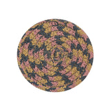 "4"" Round Braided Cotton Blend  Set of 4 Coasters 42-057"