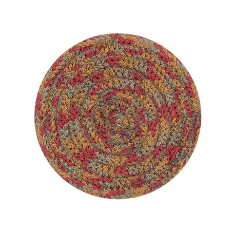 "4"" Round Braided Cotton Blend  Set of 4 Coasters 42-300"
