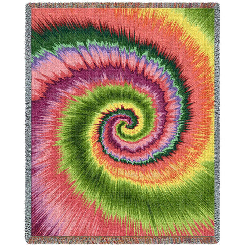 Girls Funky Tie Dye Woven Throw