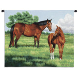 My Pride Mare and Foal Art Tapestry Wall Hanging