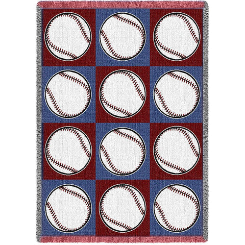 Softballs Art Tapestry Throw