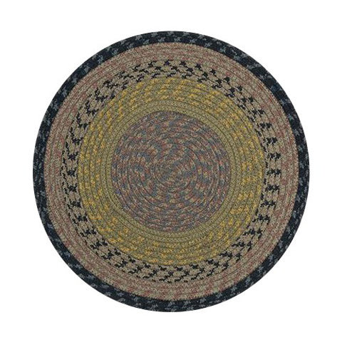 Brown/Black/Charcoal Braided Cotton Blend Round Chair Pad 45-099