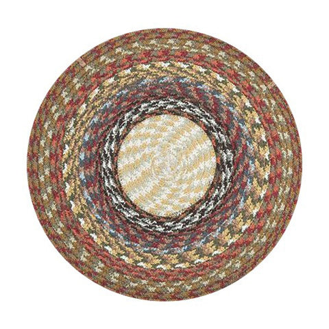 Honey/Vanilla/Ginger Braided Cotton Blend Round Chair Pad 45-300
