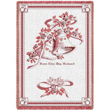 Matrimony Art Tapestry Throw, Pink/Cranberry