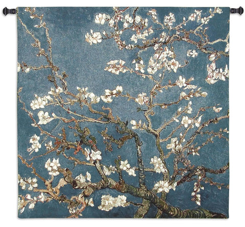 Almond Blossoms Art Tapestry Wall Hanging in 2 Sizes