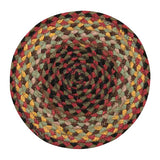 "Burgundy/Black/Multi 10"" Round Braided Jute Trivet 46-081"