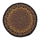 "Brown/Black/Charcoal 10"" Round Braided Jute Trivet 46-099"