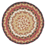 "Brick Road 10"" Round Braided Jute Trivet 46-781"