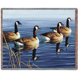 Afternoon Geese Procession Art Tapestry Throw