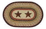 Barn Stars Oval Braided Jute Placemat 48-019BS