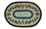 Blueberry Vine Oval Braided Jute Placemat 48-312BV