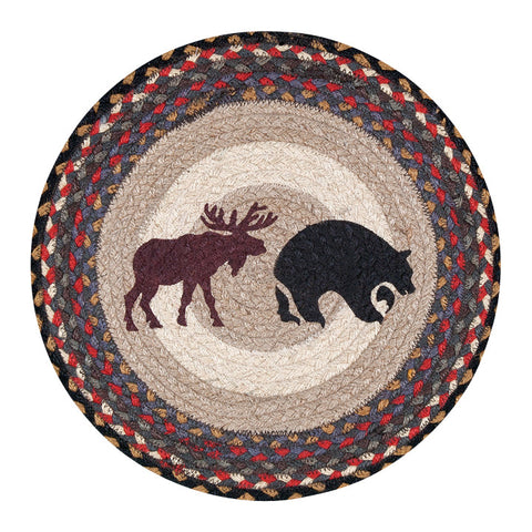 "Moose and Bear 15.5"" Round Braided Jute Chair Pad 49-CH043BM"