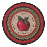 "Apple 15.5"" Round Braided Jute Chair Pad 49-CH238A"