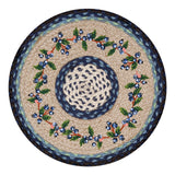 "Blueberry Vine 15.5"" Round Braided Jute Chair Pad 49-CH312BV"