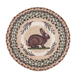 "Vintage Rabbit 15.5"" Round Braided Jute Chair Pad 49-CH413VR"