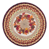 "Autumn Wreath 15.5"" Round Braided Jute Chair Pad 49-CH431AW"