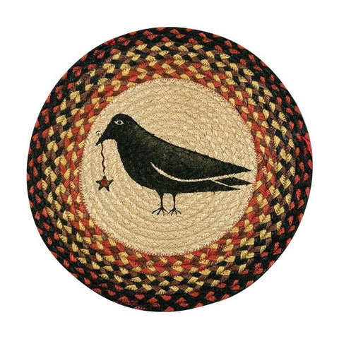 "Crow and Star 15.5"" Round Braided Jute Chair Pad 49-CH919CS"
