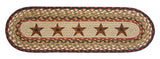 Barn Stars Oval Braided Jute Stair Tread 49-ST019BS