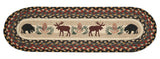Black Bears and Moose Oval Braided Jute Stair Tread 49-ST043BM