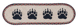 Bear Paw Prints Oval Braided Jute Stair Tread 49-ST081BP