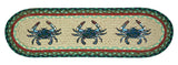 Blue Crabs Oval Braided Jute Stair Tread 49-ST359BC