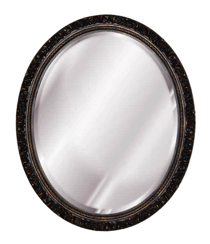 Baroque Oval Wall Mirror Antique Reproduction in 60 Colors