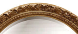 Baroque Oval Wall Mirror Antique Reproduction, Gold Leaf Color Finish