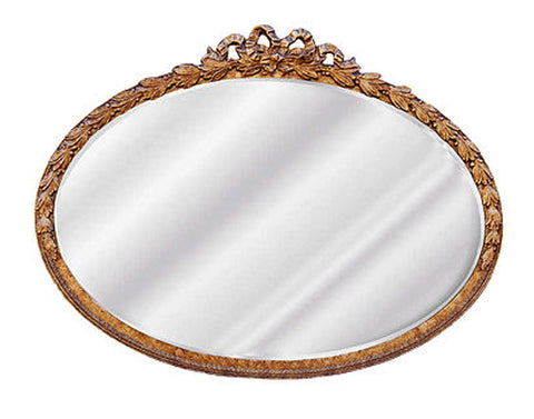 Laurel Leaf Oval Wall Mirror Antique Reproduction in 60 Colors