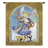 Angel and Cats Art Tapestry Wall Hanging