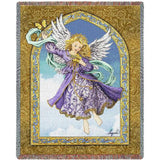 Angel with Butterflies Art Tapestry Throw