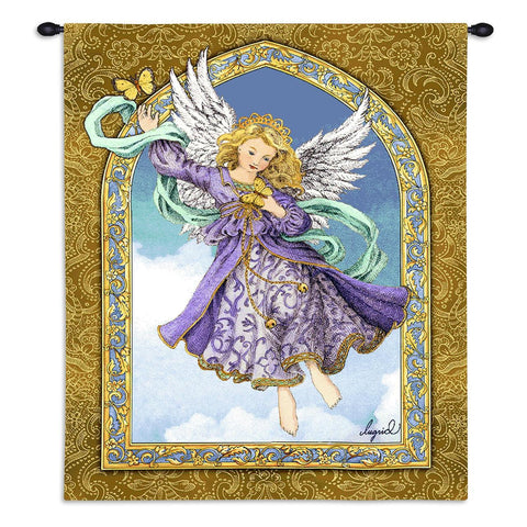 Angel with Butterflies Art Tapestry Wall Hanging