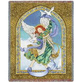 Angel with Doves Art Tapestry Throw