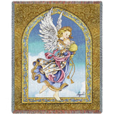 Angel Cradling Baby Art Tapestry Throw